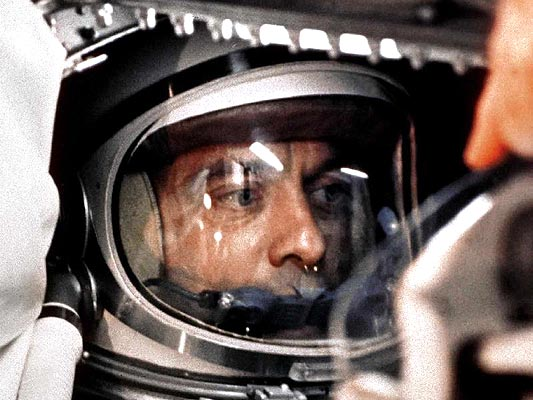 Alan Shepard a bordo de la Amistad 7