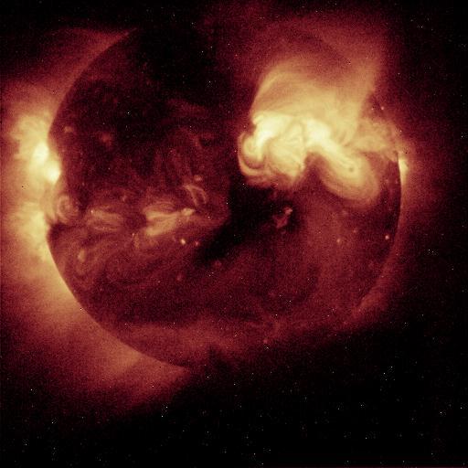 El sol visto a través de Rayos X