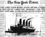 "New York Times: ""Titanic Sinks Four Hours After Hitting Iceberg"" [16th April 1912]"