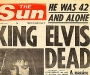 "The Sun: ""King Elvis Dead"" [17th August 1977]"