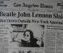 "Los Angeles Times: ""Beatle John Lennon Slain"" [9th December 1980]"