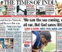 "The Times Of India: ""We saw the sea coming, we all ran. But God saves little"" [28th December 2004]"