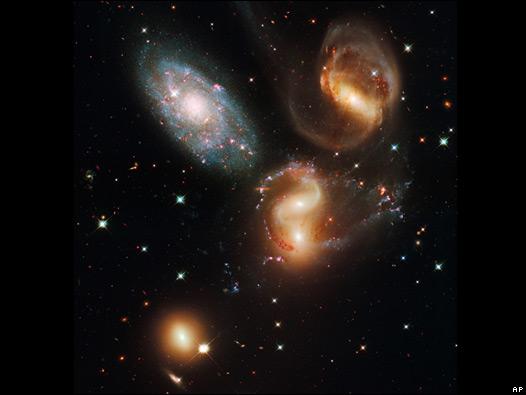 Quinteto de Stephans, un grupo de galaxias en colisión