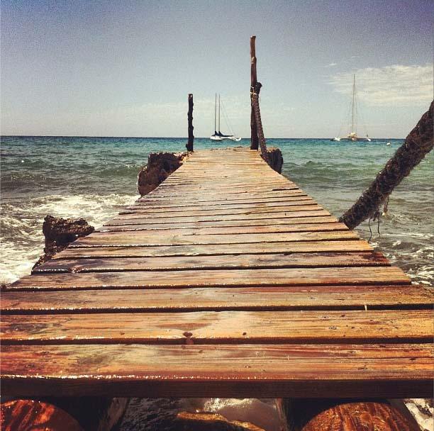 Entrada al mar en Cala D`Hort