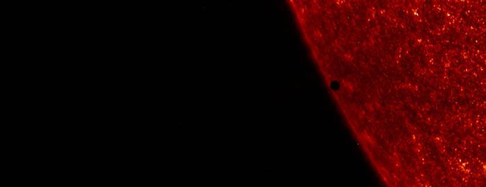 Mercurio transitando al Sol