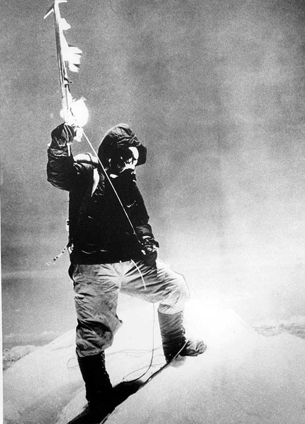 Sherpa Tenzing Norgay fotografiado por Edmund Hillary