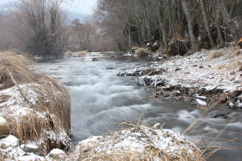 Nieve en el río Ería
