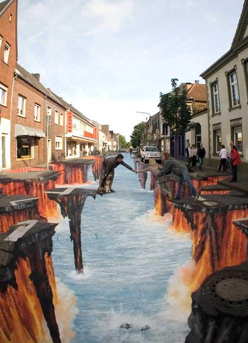 Lava en la calle