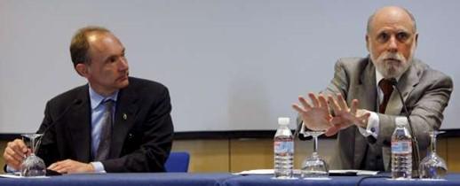 Tim Berners-Lee y Vinton Cerf. Fuente EFE