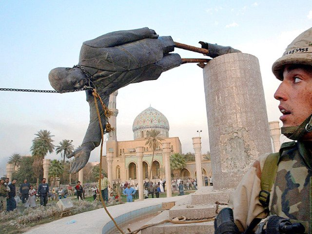 La estatua de Sadam