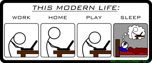 La vida moderna...