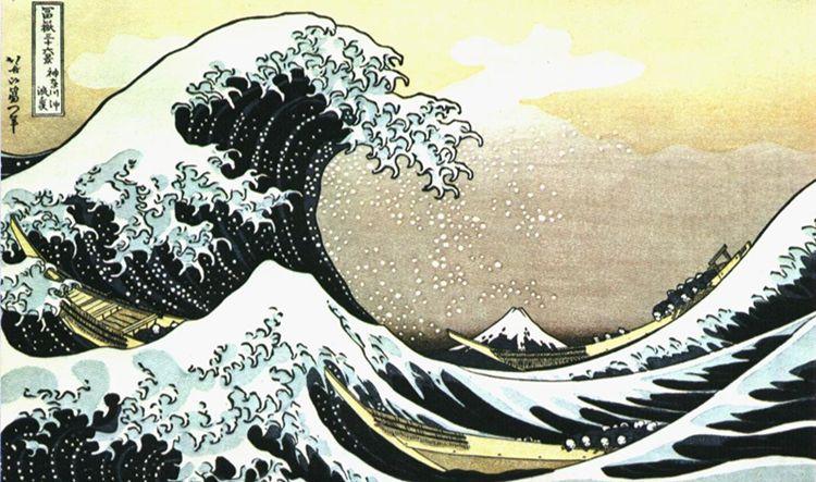 La gran ola de Kanagawa - KATSUSHIKA HOKUSAI
