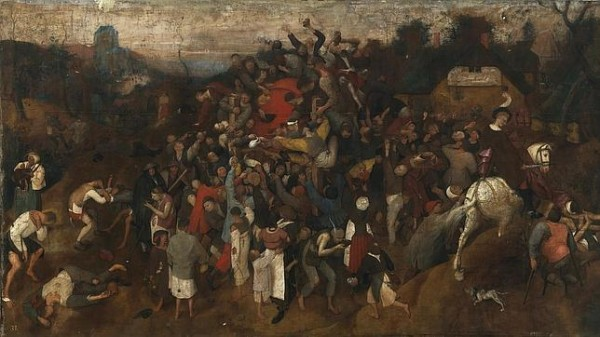 El vino en la fiesta de San Martín - Pieter Bruegel el Viejo