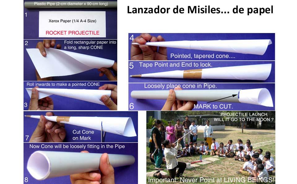 Lanzador de misiles de papel