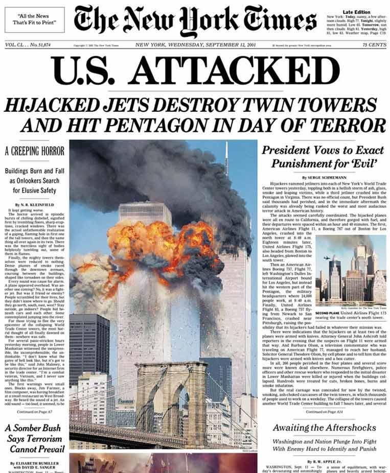 Portada New York Times 11s